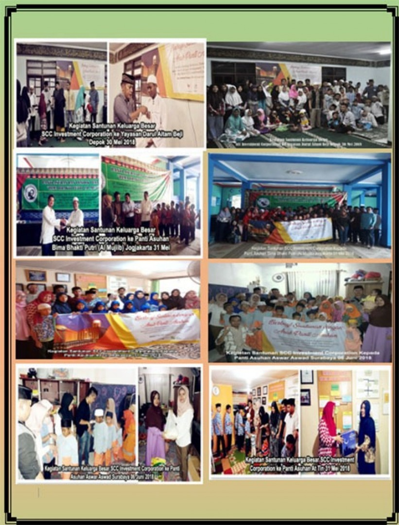 SCC Tunaikan Misi Sosial Ramadhan 2018, Santuni 285 Yatim Piatu