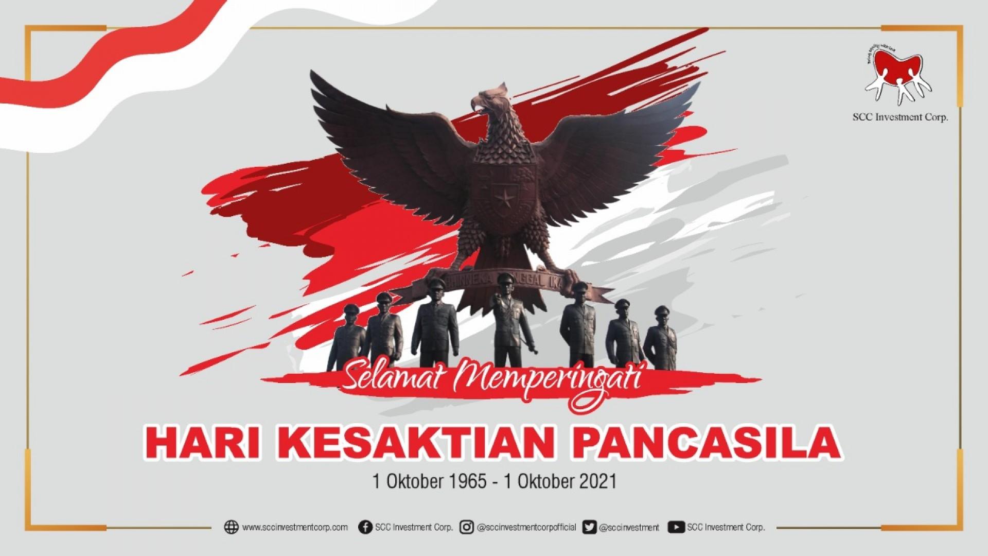 Selamat Hari Kesaktian Pancasila 1 Oktober 2021