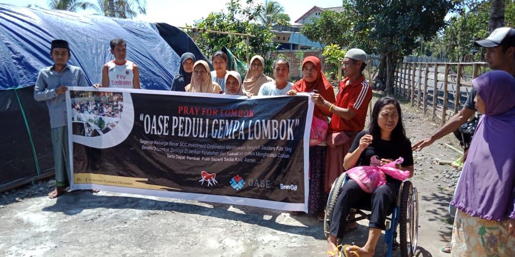 Ikut Peduli, SCC Serahkan Bantuan Gempa Lombok