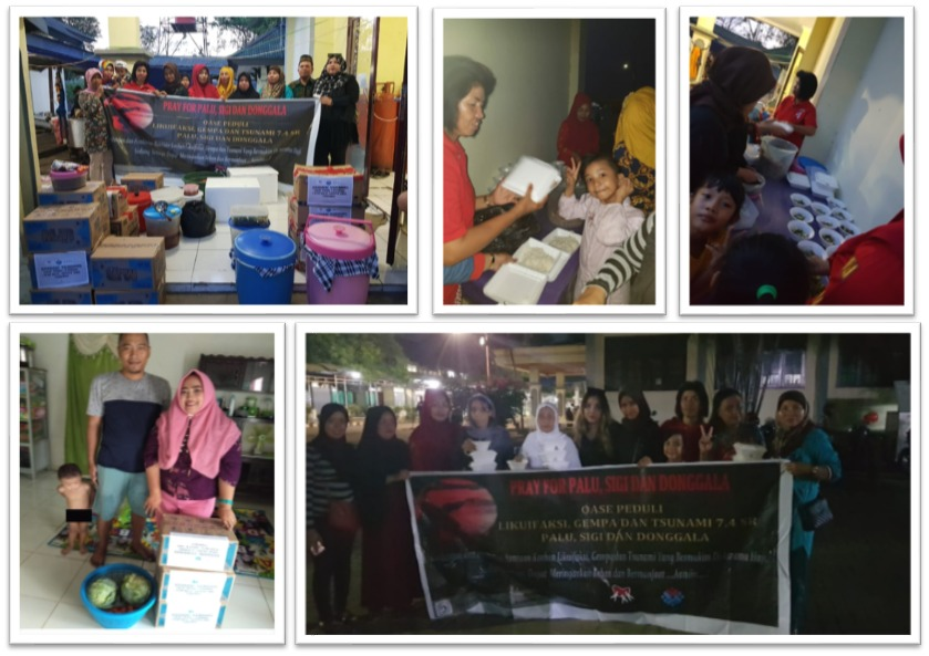 Kebersamaan SCC di Pengungsian Korban Gempa Palu-Donggala