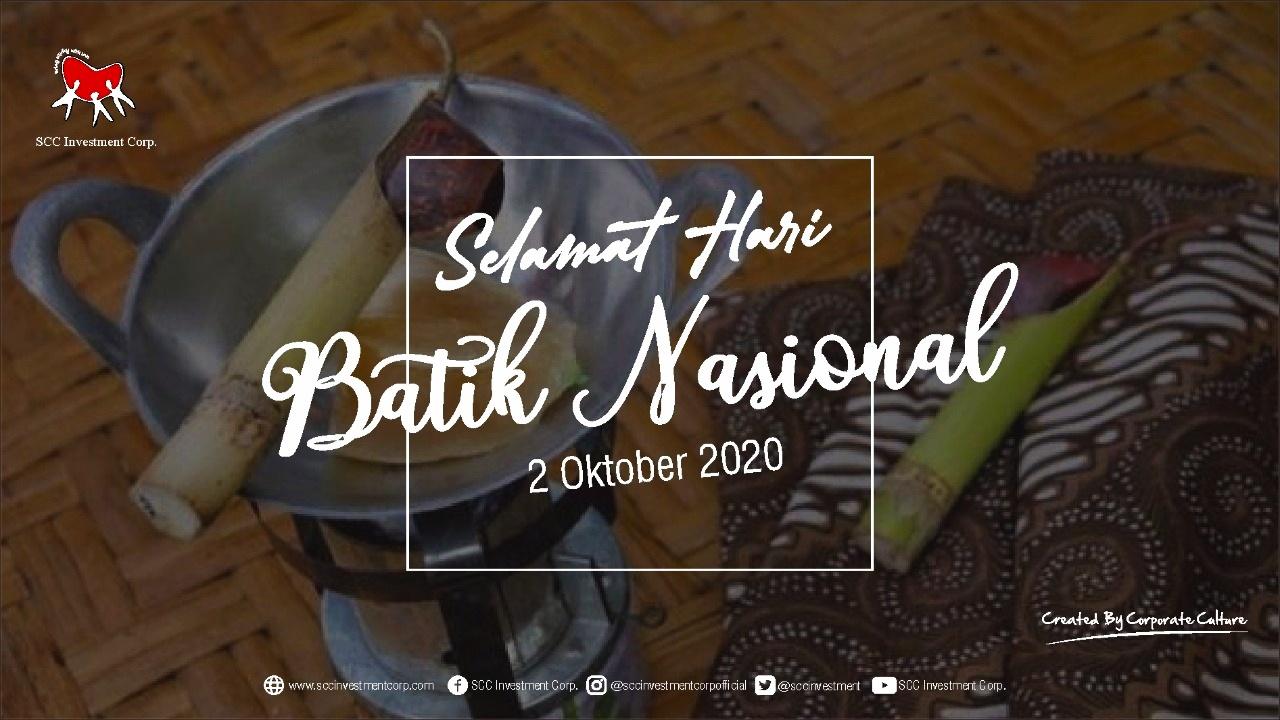 Selamat Hari Batik Nasional - 2 Oktober 2020