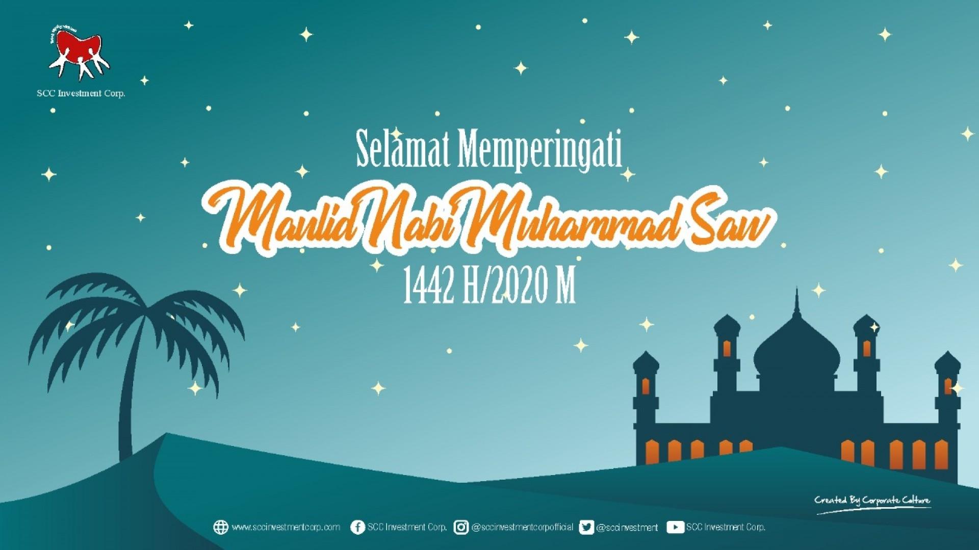 Selamat merayakan hari Maulid Nabi Muhammad SAW 12 Rabiul Awal 1442 H